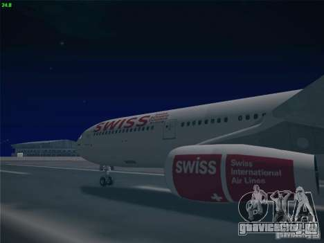 Airbus A340-300 Swiss International Airlines для GTA San Andreas вид сзади