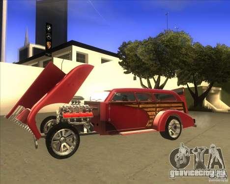 Custom Woody Hot Rod для GTA San Andreas вид справа