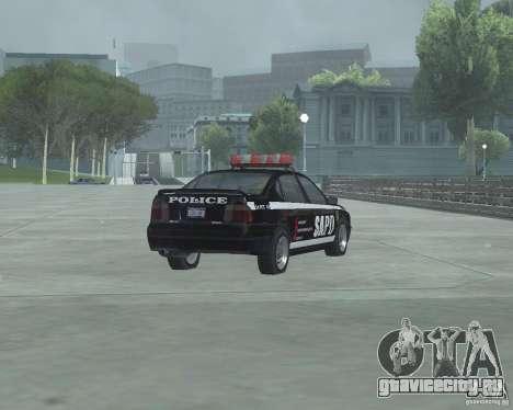 Cop Car Chevrolet для GTA San Andreas вид сзади слева
