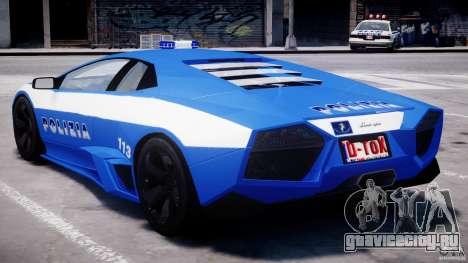 Lamborghini Reventon Polizia Italiana для GTA 4 салон