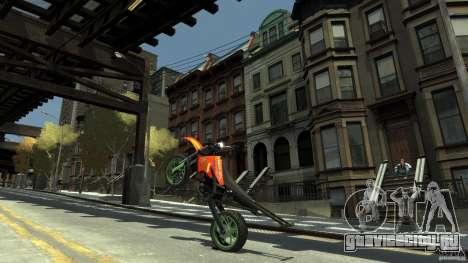 Stunt Supermotard Sanchez для GTA 4 вид сзади