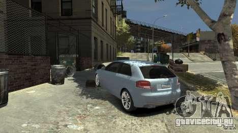 Audi S3 2009 для GTA 4 вид сзади слева
