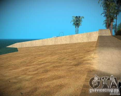 New textures beach of Santa Maria для GTA San Andreas шестой скриншот