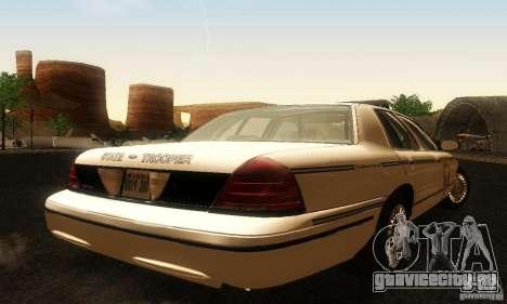 Ford Crown Victoria Ohio Police для GTA San Andreas вид слева