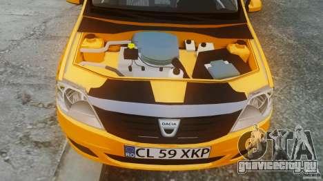Dacia Logan Facelift Taxi для GTA 4 вид справа