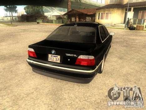 BMW 750iL для GTA San Andreas вид сбоку