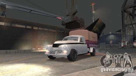 ГАЗ М20 Пикап для GTA 4 вид сзади слева