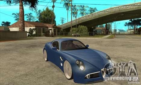 Alfa Romeo 8C Competizione для GTA San Andreas вид сзади