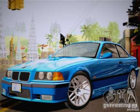 BMW M3 E36 New Wheels для GTA San Andreas вид сзади слева
