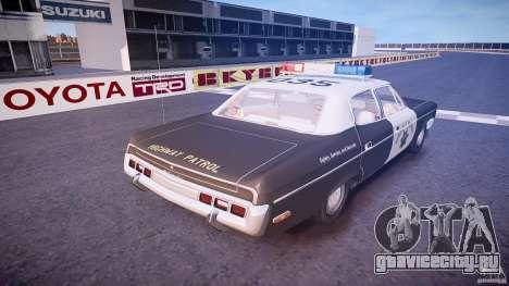 AMC Matador CHP [ELS] для GTA 4 вид сверху