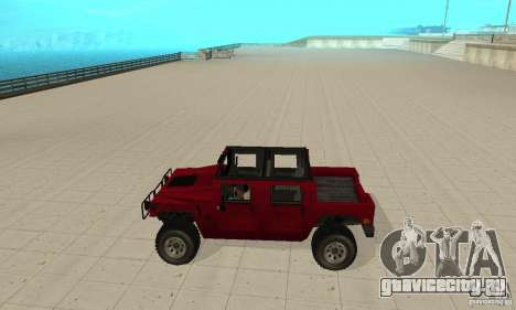 Hummer Civilian Vehicle 1986 для GTA San Andreas вид слева