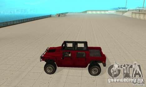 Hummer Civilian Vehicle 1986 для GTA San Andreas вид слева
