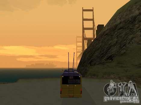 Троллейбус ЛАЗ Е-183 для GTA San Andreas вид сзади слева