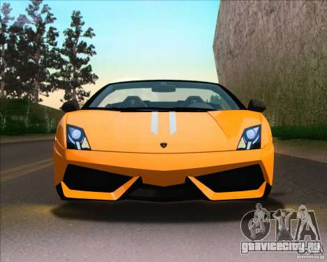 Lamborghini Gallardo LP570-4 Spyder Performante для GTA San Andreas вид справа