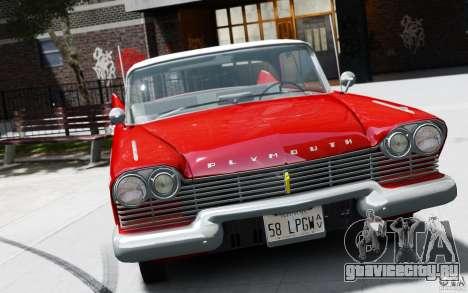 Plymouth Belvedere Sport Sedan 1957 для GTA 4 вид сзади слева