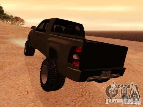 Chevrolet Silverado ZR2 для GTA San Andreas вид справа