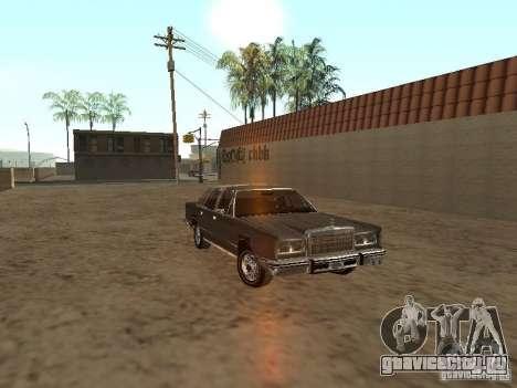 Lincoln Town Car 1986 для GTA San Andreas вид сзади