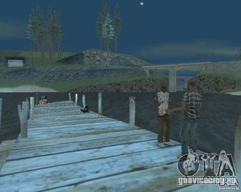 Оживлённый пляж Palomino Creek для GTA San Andreas второй скриншот