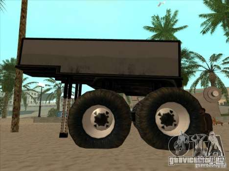 Прицеп к Monsterous Truck для GTA San Andreas вид справа