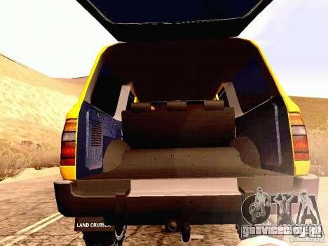 Toyota Land Cruiser 80 Off Road Rims для GTA San Andreas вид изнутри