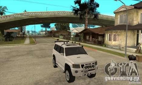 Nissan Patrol 2005 для GTA San Andreas вид сзади