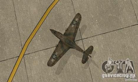 P-35 для GTA San Andreas вид сзади