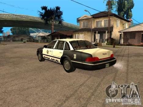 Ford Crown Victoria 1994 Police для GTA San Andreas вид слева