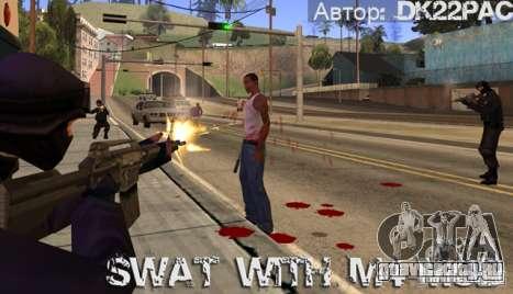 Swat вооружен M4 для GTA San Andreas