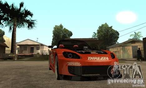 Honda S2000 CHARGESPEED для GTA San Andreas вид сзади