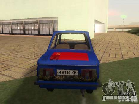 Хиппи ЗАЗ для GTA San Andreas вид сзади слева