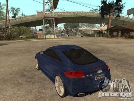 Audi TT RS 2010 для GTA San Andreas вид сзади слева