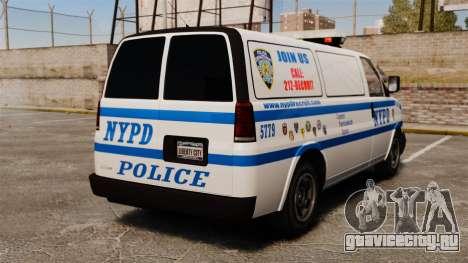Полицейский Speedo для GTA 4 вид сзади слева