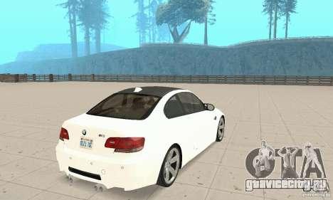 BMW M3 2008 для GTA San Andreas вид справа