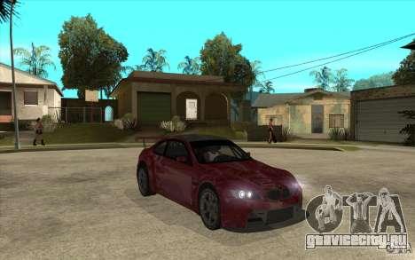 BMW M3 2009 для GTA San Andreas вид сзади