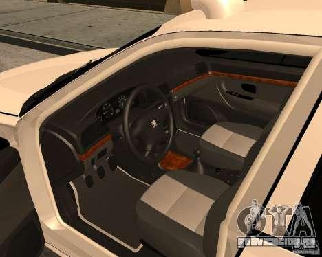 Peugeot 406 Taxi 2 для GTA San Andreas вид справа