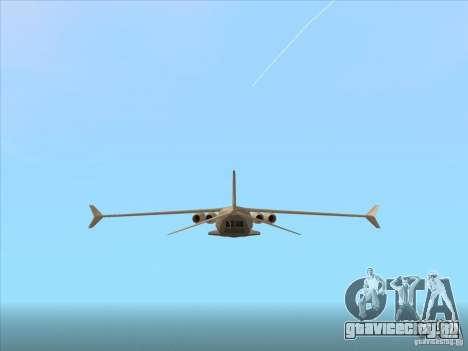 Cargo Shamal для GTA San Andreas вид справа