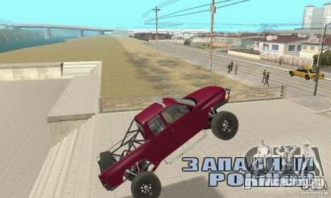 Dodge Ram Prerunner для GTA San Andreas вид изнутри