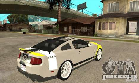 Ford Shelby GT500 Supersnake 2010 для GTA San Andreas вид справа