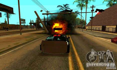 Ford Mustang Shelby GT500 From Death Race Script для GTA San Andreas вид сверху