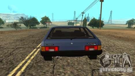 ВАЗ 2108 для GTA San Andreas вид сзади слева