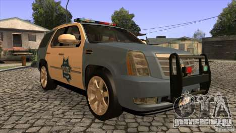 Cadillac Escalade 2007 Cop Car для GTA San Andreas вид сзади
