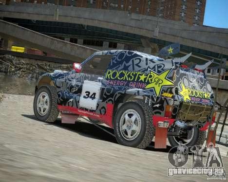 Mitsubishi Pajero Proto Dakar EK86 винил 1 для GTA 4 вид сзади слева