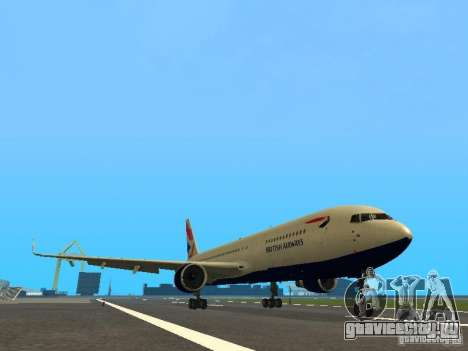 Boeing 767-300 British Airways для GTA San Andreas вид слева