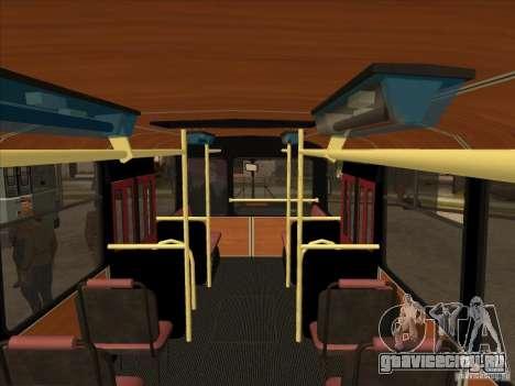 ЛиАЗ 677п для GTA San Andreas вид изнутри
