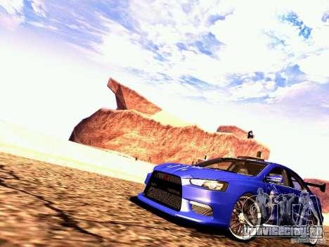 Mitsubishi Lancer EVO X Juiced2 HIN для GTA San Andreas вид слева