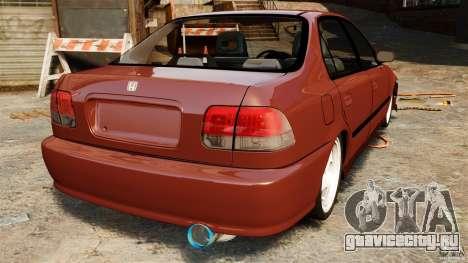 Honda Civic iES для GTA 4 вид сзади слева