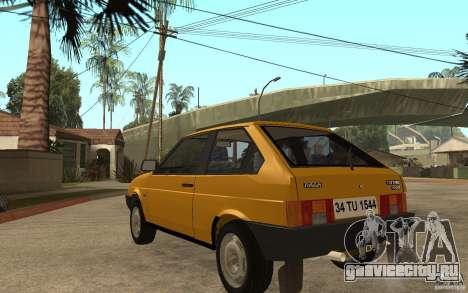 Lada Samara ВАЗ 2108 Sport для GTA San Andreas вид сзади слева