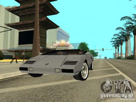 Lamborghini Countach LP400 для GTA San Andreas вид справа