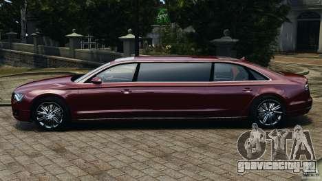 Audi A8 Limo v1.2 для GTA 4 вид слева
