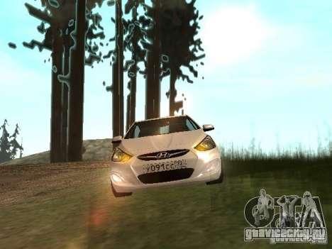 Hyundai Solaris для GTA San Andreas вид сзади слева